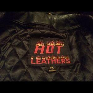 Jackets & Blazers - Black Leather Heavy Jacket